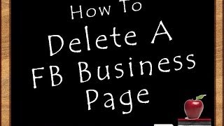 How To Delete a FB Business Page