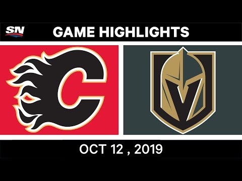 NHL Highlights | Flames vs Golden Knights – Oct 12th 2019