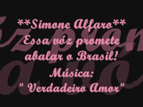 """Simone Alfaro """"Música: VERDADEIRO AMOR"""""""