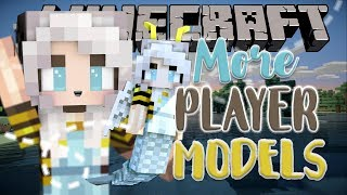 More Player Models | WINGS & MERMAID TAIL & EARS | Minecraft Mod Showcase