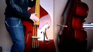 Slapping Pure Nylon-Strings (like Weedwackers) On Double-Bass