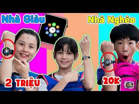 Đồng Hồ 20k Vs Đồng Hồ 2 Triệu Smart Watch - Đồ Chơi Con Nhà giàu Vs Con Nhà Nghèo ❤ KN CHENO