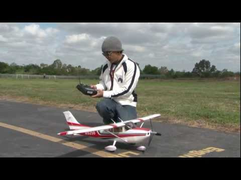 Cessna 182 Skylane RTF! Super SCALE with Lights! FLIGHT REVIEW in HD!