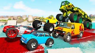 Monster Trucks Mud Battle #4 - Beamng drive