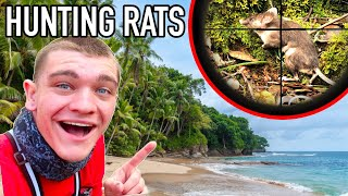 HUNTING GIANT TROPICAL ISLAND RATS! (ft. Deer Meat for Dinner)