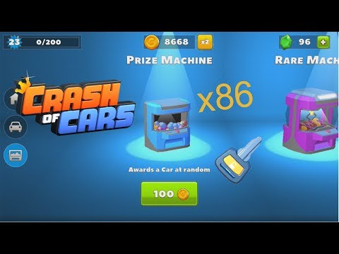 Crash Of Cars 8600 Coins Pack Machine Opening !!! Part 1