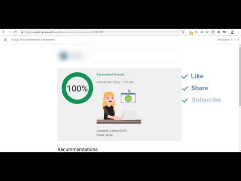 Google Adwords Fundamentals Exam Answers July 2019 - 100 ...