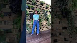 Vídeo Calça Jeans Pantalona Gatos e Atos
