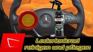 Mercedes Lederlenkrad reinigen und pflegen - Sonax Leather Cleaner Foam und Leder Balsam im Test