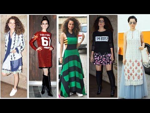 Kangana Ranaut's Designer Stylish Wardrobe Collections !