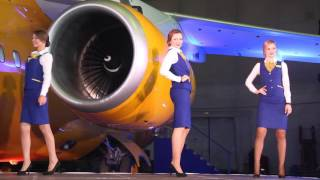 презентация нового самолета в саратовском аэропорту