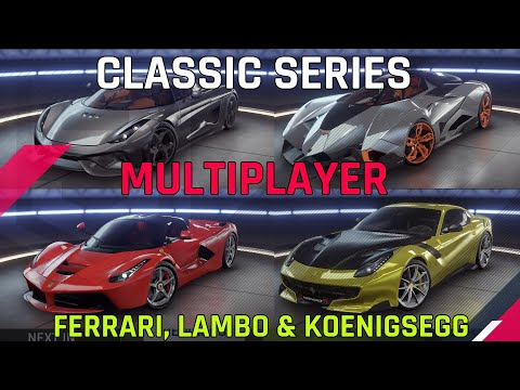 Classic Series MP ft Ferrari, Lambo & Koenigsegg