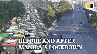 Normally Crowded Streets Of Philippine Capital Manila Deserted Amid Month-long Covid-19 Lockdown