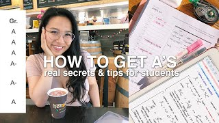 How To Get Straight As - Tips From Berkeley Student, College Studying, Studying Tips