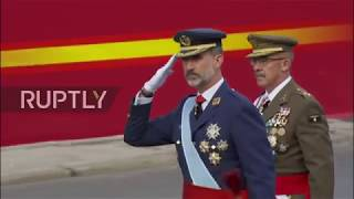 Spain: King Felipe and Rajoy attend military parade on National Day in Madrid | Kholo.pk