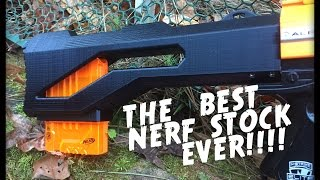 The BEST Custom Nerf Stock Ever from 3dPrintedSolid! (Zungenbrecher)