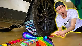 CRUSHING Squishy & Crunchy Things with my CAR! **oddly satisfying**