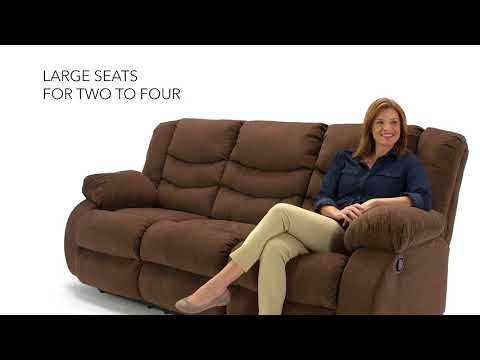 Tulen 9860588 Chocolate Reclining Sofa