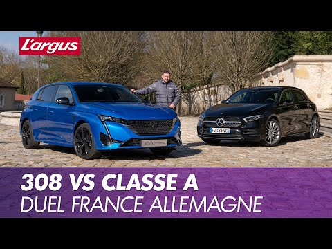 Peugeot 308 (2021) vs Mercedes Classe A. Duel franco-germanique
