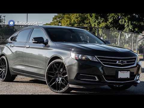 2015 Chevrolet Impala 22″ Staggered Giovanna Wheels Bogota Black Rims    AudioCityUSA