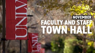 UNLV Virtual Faculty and Staff Town Hall (November 2020)
