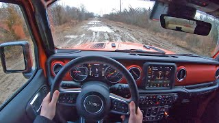 2020 Jeep Wrangler Unlimited Rubicon EcoDiesel - Rainy POV Test Drive (Binaural Audio)