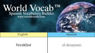 Spanish Pronunciation Quick Vocab™ :Breakfast - el desayuno
