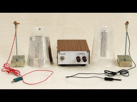 Low-Voltage Electrostatic Motor   Physical Experiment