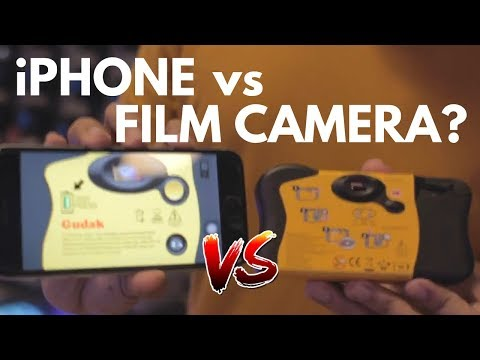 iPhone vs Disposable Camera | Gudak app & Kodak FunSaver Disposable Camera