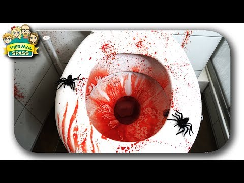 DIY HALLOWEEN 😨 DIE LECKERSTE TOILETTE DER WELT 😵 Halloween Deko Ideen deutsch 🎃 #DIY4MS