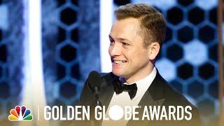 Taron Egerton Wins Best Actor, Musical or Comedy - 2020 Golden Globes