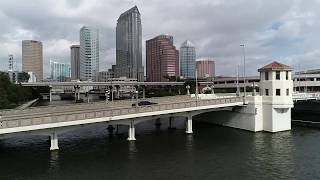 A drone flight around Downtown Tampa