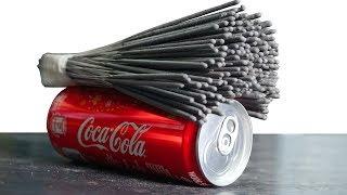 NTN - Thí Nghiệm Phá Hủy Coca Bằng Pháo Bông (EXPERIMENT: SPARKLERS vs COCA COLA)