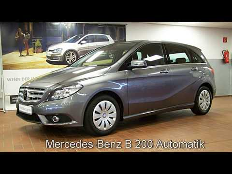 "Mercedes Benz B Klasse 200 Automatik 1N005897 MOUNTAINGRAU 2012 ""AUTOHAUS CZYCHY"""