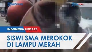 Viral Video Aksi Siswi SMA Merokok di Lampu Merah, Tantang Warga yang Menegur, Kini Diciduk Polisi