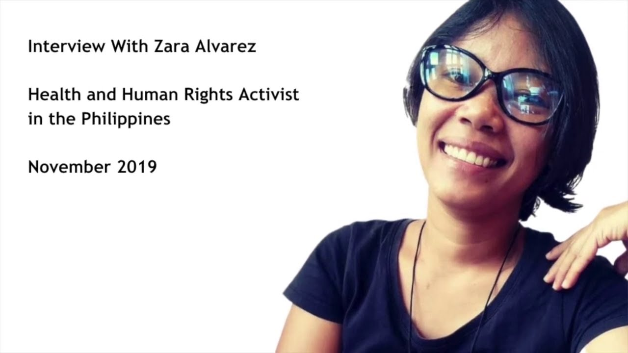 Interview with Zara Alvarez, Philippine health and human rights activist