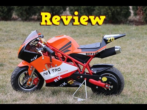 Best Pocket Bike PS50 Rocket Sport - Full Review - Nitro Motors - Mini Moto - Video