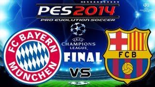 PES 2014 UEFA Champions League FINAL FC Bayern Munchen vs FC Barcelona