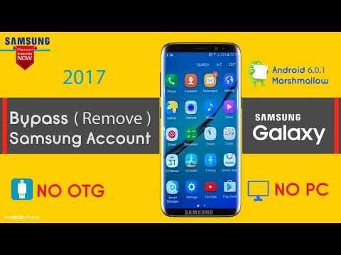 Bypass , Remove Samsung Account Marshmallow 6 0 1 Reactivation lock