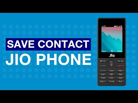 How to Save Contact on JioPhone?