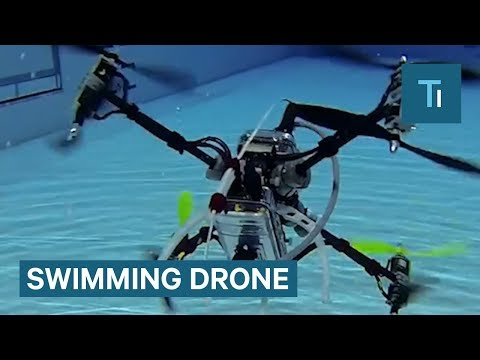 Revolutionary Drone Can Fly and Swim Underwater