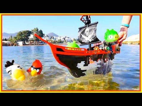 Spielspaß am Strand - Angry Birds - Oje, Piraten wollen die Eier klauen