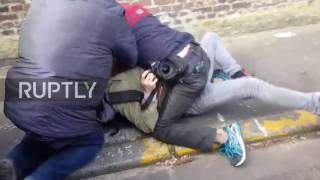 France: Photographer violently detained by Le Pen