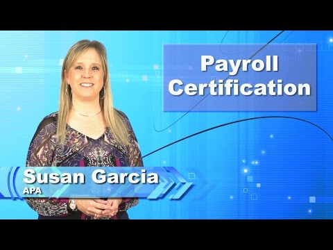Payroll Certification - YouTube