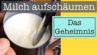 Milch aufschäumen: Das Geheimnis für perfekten Latte Art Milchschaum mit deinem Siebträger