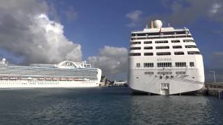 preview picture of video 'Bridgetown, Barbados - Cruise Ships in Port HD (2015)'
