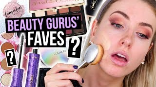 Full Face TESTING BEAUTY GURUS Makeup FAVORITES?! || What Worked & What DIDN'T