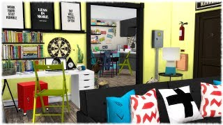 The Sims 4: Speed Build // CITY APARTMENT + CC LINKS