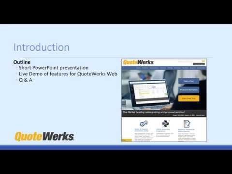 QuoteWerks Web Launch Webinar - QuoteWerks Web CPQ is a Hybrid Cloud Solution for creating Sales Quotes