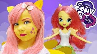КОСПЛЕЙ ФЛАТТЕРШАЙ 🦋Cosplay Fluttershy Kids Makeup My Little Pony Equestria Girl doll, Pretend Play